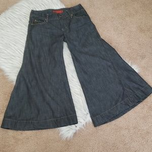 Level 99 Anthropology Goucho Chambray Pants